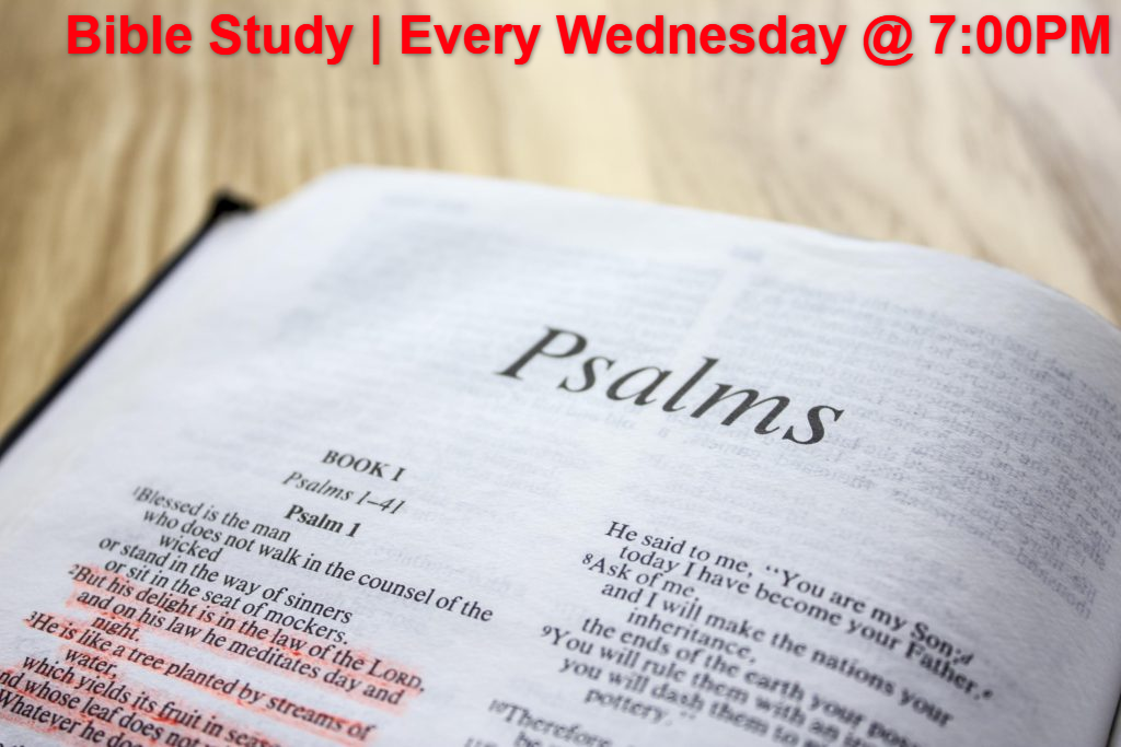 Bible Study | Every Wednesday @ 7:00PM
